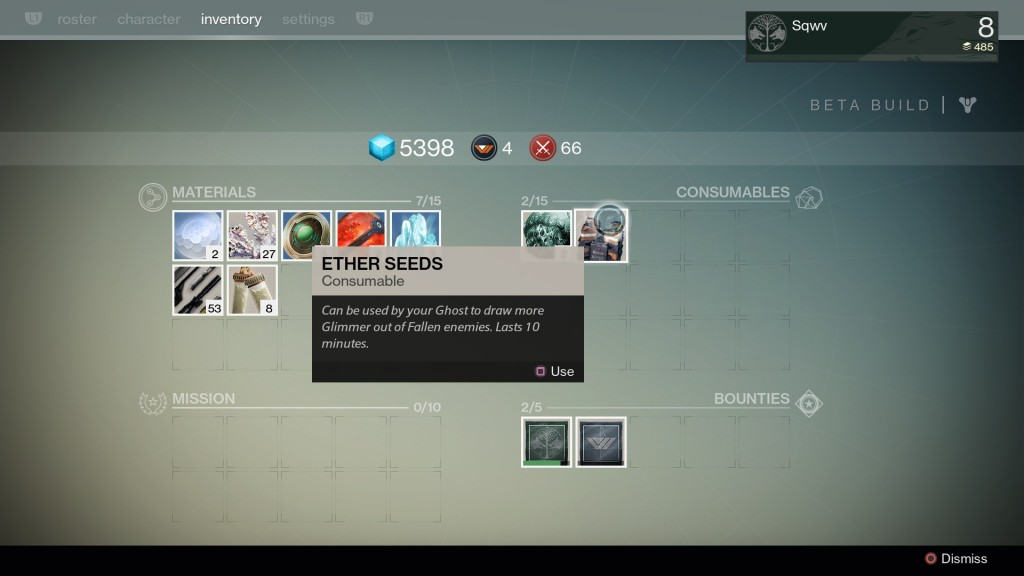 Destiny Ether Seeds